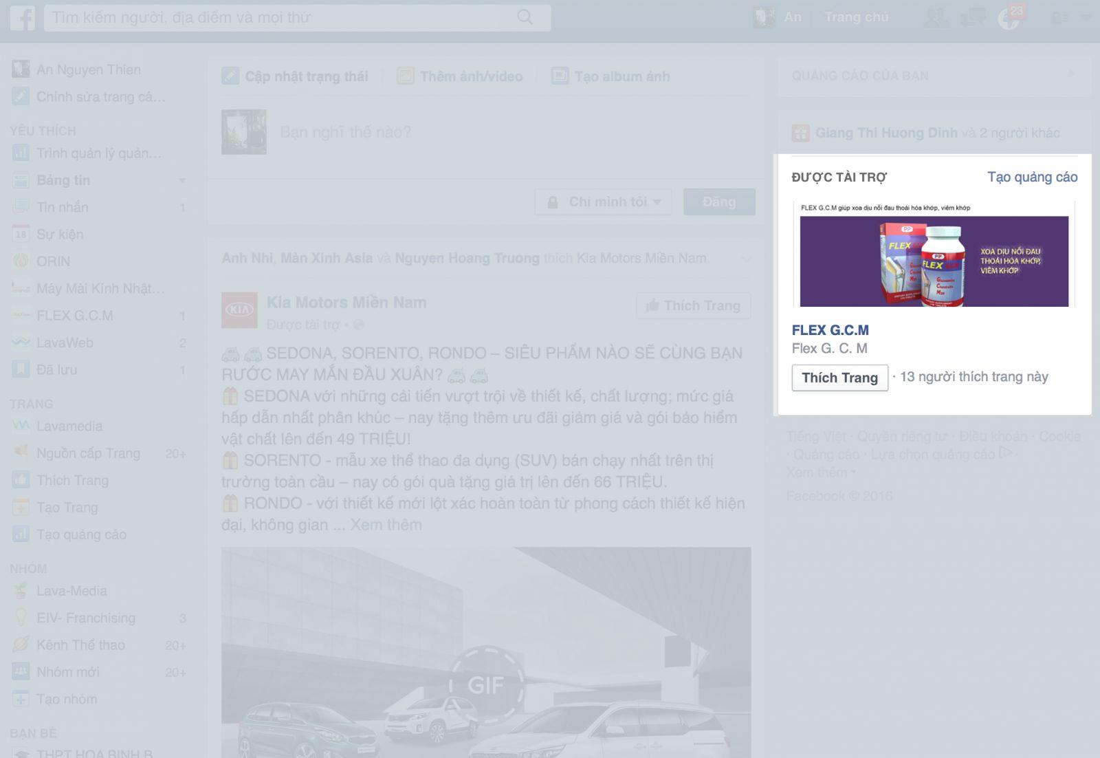 quang cao facebook cot ben phai